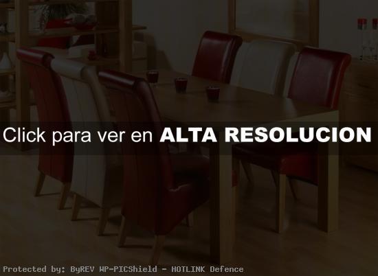 comedor moderno en rojo