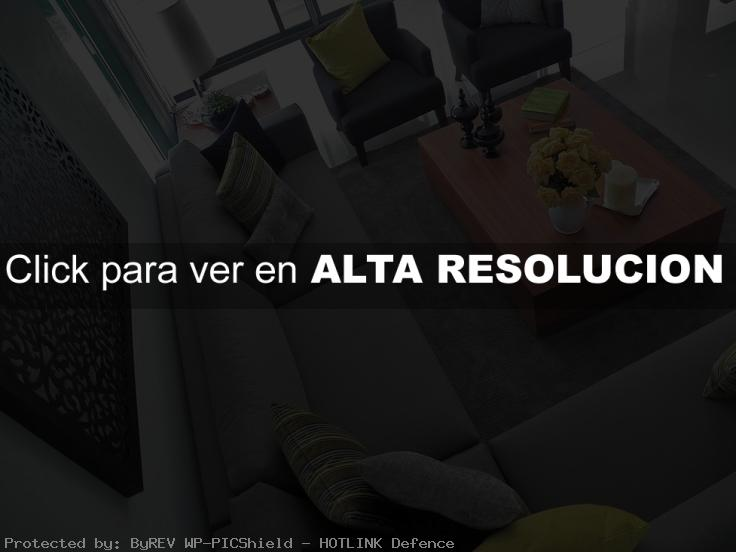 Dise o de salas en color gris decoracion de interiores for Decoracion de salas en gris y amarillo