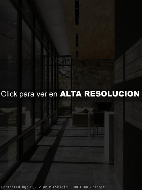 Interiores Modernos Piedra y Madera